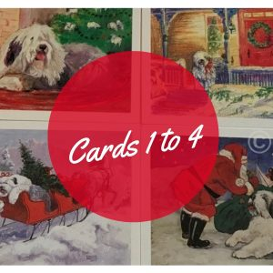 holiday cards with Old english sheepdogs on them